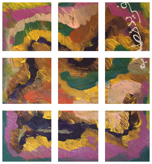 Life's Steps Painting +270 degrees clockwise rotation sliced up