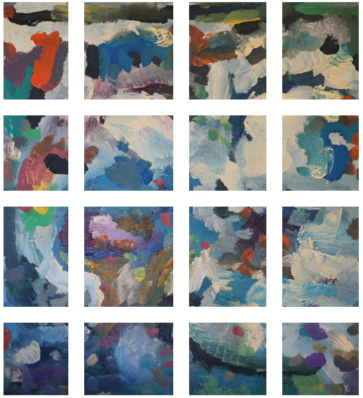 The Mix Painting +270 degrees clockwise rotation sliced up