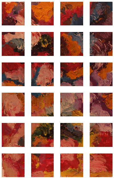 Flower Garden Painting +90 degrees clockwise rotation sliced up