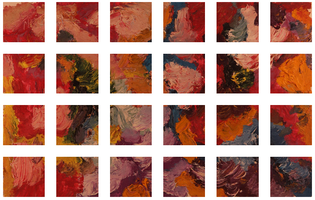 Flower Garden Painting +180 degrees clockwise rotation sliced up