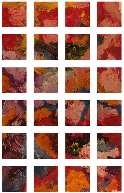 Flower Garden Painting +270 degrees clockwise rotation sliced up