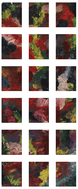 Men In Robes Painting +90 degrees clockwise rotation sliced up