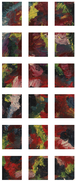 Men In Robes Painting +270 degrees clockwise rotation sliced up